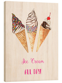Wood  Ice cream all day - Rongrong DeVoe
