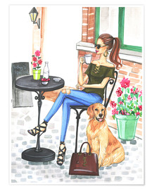 Premium poster  Afternoon coffee - Rongrong DeVoe
