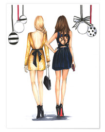 Premium poster Fashionista best friends