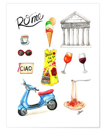 Premium poster Rome Sightseeing