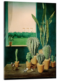 Acrylic print  Cacti and semaphores - Georg Scholz