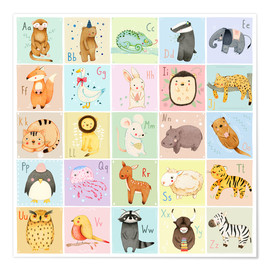 Premium poster Animal alphabet (German)