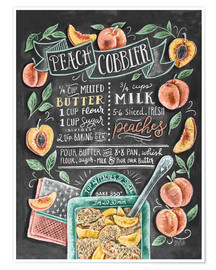 Premium poster Peach Cobbler recipe