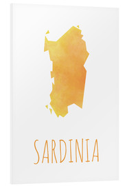 Foam board print  Sardinia - Stephanie Wittenburg