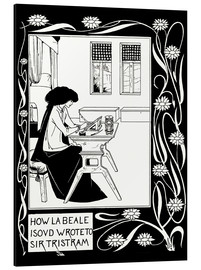 Aluminium print  How La Beale Isoud Wrote to Sir Tristram - Aubrey Vincent Beardsley