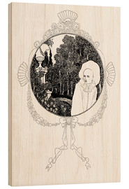 Wood print  pierrot of the minute - Aubrey Vincent Beardsley