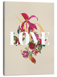 Canvas  Exotic Love flowers botanical art - Nory Glory Prints