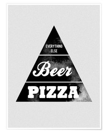 Premium poster Food graphic beer pizza logo parody