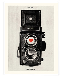 Premium poster  Vintage retro camera - Nory Glory Prints