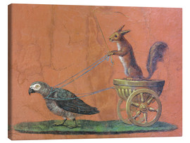 Canvas print  Parrot draws cars with squirrels