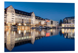 Foam board print  Tempelhofer Hafen Berlin at the blue hour - Philipp Dase