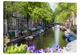 Canvas  Summer in Amsterdam - George Pachantouris