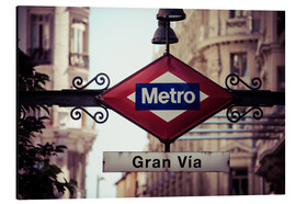 Aluminium print  Metro sign, Madrid