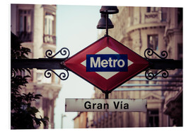 Forex  Metro sign, Madrid