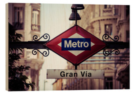 Wood  Metro sign, Madrid