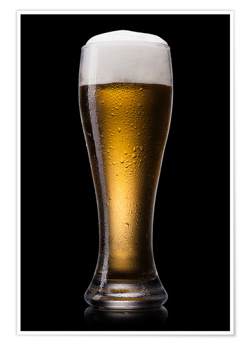 Premium poster Beer into glass