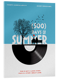 Acrylic print  500 days of summer - Golden Planet Prints