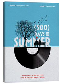 Canvas  500 days of summer movie inspired illustration - Golden Planet Prints