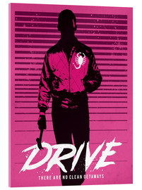 Acrylic print  Drive Ryan Gosling movie inspired art print - Golden Planet Prints