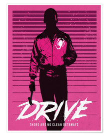 Premium poster  Drive Ryan Gosling movie inspired art print - Golden Planet Prints