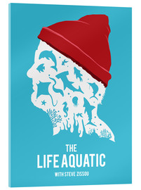 Acrylic glass  The life aquatic Steve Zissou art movie inspired - Golden Planet Prints