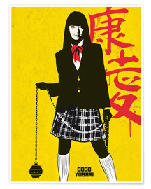 Poster  Gogo Yubari from Kill Bill - Golden Planet Prints