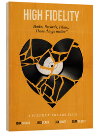 Wood  High fidelity Minimalist art movie inspired - Golden Planet Prints