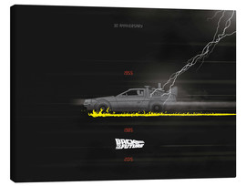 Canvas print  Back to the Future - Golden Planet Prints