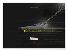 Premium poster  Back to the Future - Golden Planet Prints