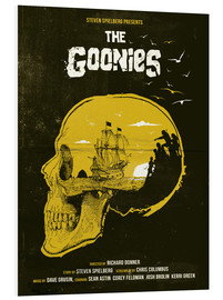 Foam board print  The Goonies - Golden Planet Prints