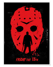 Premium poster  Friday the 13th - Golden Planet Prints