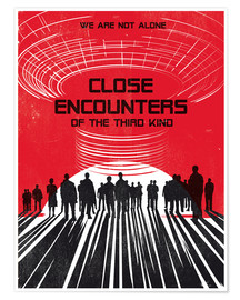 Premium poster Close encounters of the third king movie inspired art