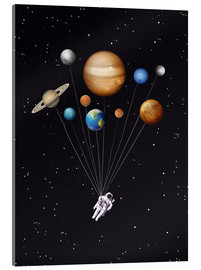Acrylic print  Space traveler - Golden Planet Prints