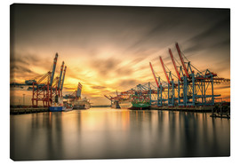 Canvas print  Waltershofer Hafen V - PhotoArt Hartmann
