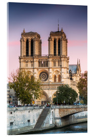 Acrylic print  Notre Dame cathedral at sunset, Paris, France - Matteo Colombo