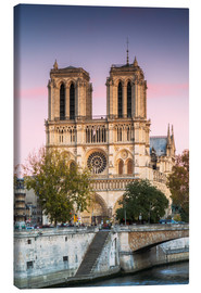 Canvas print  Notre Dame cathedral at sunset, Paris, France - Matteo Colombo