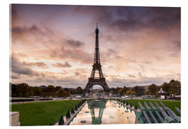 Acrylic print  EIffel tower at sunset from the Trocadero, Paris, France - Matteo Colombo