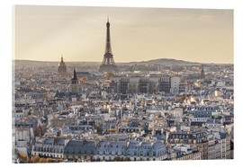 Acrylic print  Eiffel tower and city of Paris at sunset, France - Matteo Colombo