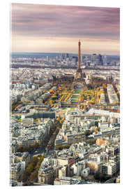 Acrylic print  Paris from above in autumn - Matteo Colombo