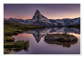 Premium poster  Sunset at Matterhorn - Achim Thomae