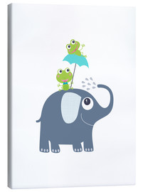 Canvas print  Frogs and elephant - Jaysanstudio