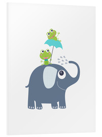 Foam board print  Frogs and elephant - Jaysanstudio
