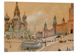 Foam board print  Moscow (Kremlin and St. Basil's Cathedral) - Albert Edelfelt