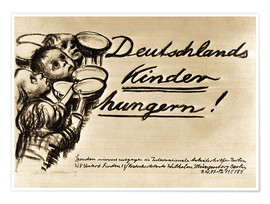 Premium poster Germany's Children are starving