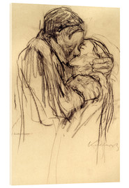 Acrylic print  The kiss - Käthe Kollwitz