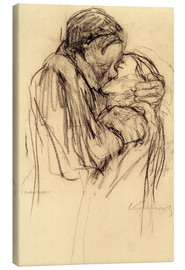 Canvas print  The kiss - Käthe Kollwitz