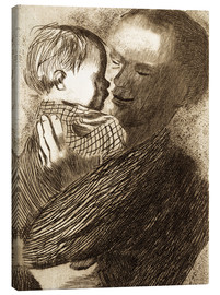 Canvas print  Mother with Child in her arms - Käthe Kollwitz