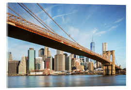 Acrylic print  Brooklyn bridge and Manhattan skyline at sunrise, New York city, USA - Matteo Colombo