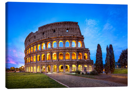 Canvas  The Colosseum in Rome, Italy - Jan Christopher Becke