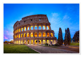 Premium poster The Colosseum in Rome, Italy